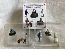 Liberty Falls Pewter Collection Ah223 Accessory Set Stone Well & People New - M