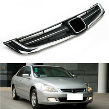 ABS Chrome Front Grille Grill Mesh For Honda Accord 7th 2005-2007
