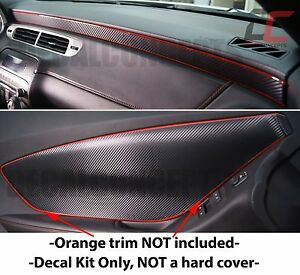 2010-2015 Camaro Carbon Fiber Interior Door Panel and Dash Trim Decal kit- Chevy
