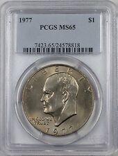1977 Eisenhower  Ike Dollar $1 Coin PCGS MS65 (BR-37 M)