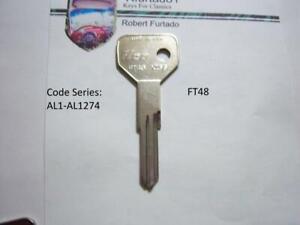 Key Blank for Vintage Alfa Romeo Milano 1987-1989 (see code series) FT48