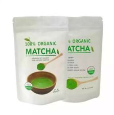 100% Pure Matcha Green Tea Powder Organic Top quality. 7 oz/200g in two bags.