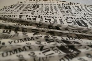 "Greaseproof Paper Sheets, Printed ""Tasty Words "" Design Free Postage Included"