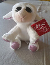 "RUSS Li'L PEEPER APRIL WHITE LAMB 6"" STUFFED ANIMAL NEW"