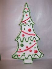 Christmas White Gingerbread Tree Light Up Plastic Blow Mold Decoration