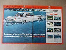 1962 MERCURY METEOR VINTAGE 2 PAGE MAGAZINE AD  INV#261