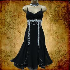 Karen Millen Silk Black Beaded Charleston Downton Flapper Cocktail Dress 12 UK