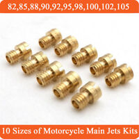 New 10 Sizes Round Head Main Jet Kit 82-105 for Motorcycle Scooter Carburetor