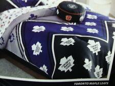 New Black blue and gray NHL Hockey Toronto logos Twin Single Comforter + 1 shams