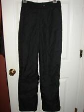 HILL TOPPERS Black Insulated Ski Nylon Zip Pants Snow Boarding Skiing womens M