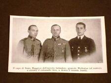Esercito in Finlandia nel 1928 Generale Wallenius, Colonn.Airo e Tenente Jeanty