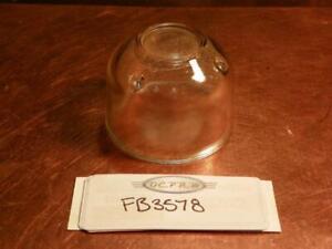 "NOS Glass Fuel Bowl Sediment Filter 1930's 1940's OD 2-1/4""  1-7/16"" Tall FB3578"