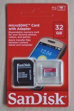 SanDisk 32gb ultra class 10 microSDHC microSD Memory Card mapa with adaptador