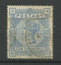1883/91 Sg 183A, 10/- Pale Ultramarine (MD) Good used.
