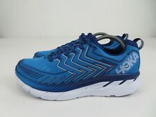 Hoka One One Clifton 4 Blue Black Road Athletic Running Shoes Mens Size 11.5 M