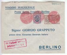 Italien: Alter numerierter Flugpostbrief Venezia - Berlino von 1928; Mi.Nr. 254