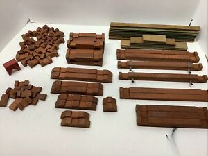 Vintaga HALSAM Axe Hewn Square American Logs Lot of 89 (Log Cabin) S Gauge size