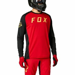 Fox Racing 2021 Defend L/S Long Sleeve Jersey Chili