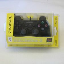 OFFICIAL SONY PS2 PLAYSTATION 2 BLACK DUALSHOCK CONTROLLER PAD - NEW & SEALED