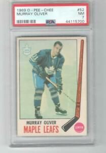 1969 OPC O-Pee-Chee Murray Oliver PSA 7 # 52 Toronto Maple Leafs