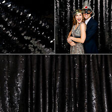 1.5M X 1.4M Sparkly Black Sequin Tablecloth Blinking Table Backdrop Wedding Deco