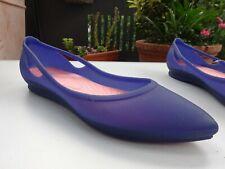 CROCS RIO FLAT Damen Soft Ballerinas Blau Melon Gr.39,5(US W9) Neuw