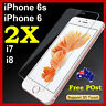 2x Scratch Resist Tempered Glass Screen Protector for Apple iPhone 6S 8 Plus 7 4
