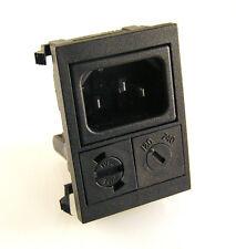 BULGIN IEC Mains Input PANNELLO con FUSIBILE Titolare 20 mm e 120/240v OM0531 Interruttore