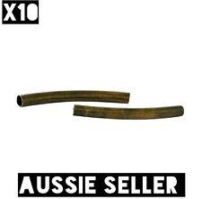x10 Antique Bronze Tube Spacer Beads Long Necklace DIY Bracelet Jewel Bar Curved