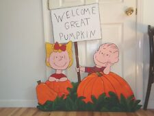 in stock ready to ship THE GREAT PUMPKIN HAND MADE, PAINTED YARD ART DECOR.