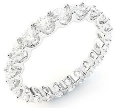 "2.85 carat Round Diamond Eternity Ring Platinum Band 19 x 0.15 ct ""U"" shape F VS"