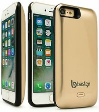 iPhone 7 Battery Charging Case, Bastex Slim Fit Gold Hard Plastic Rechargeable