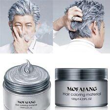 Silver Colour Grey Hair Wax Men/Women/Grandma Hair Ash Dye Gray Mud Temporary HY