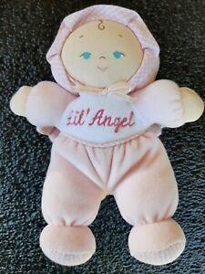 "7"" Pink LIL ANGEL BABY DOLL Lovey BABY GUND 5679 Plush Toy"