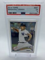 2014 Topps #661 Masahiro Tanaka RC - PSA 5 Rookie YANKEES EXCELLENT