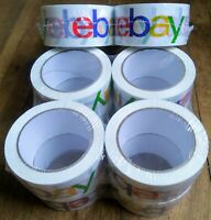 """OFFICIAL EBAY BRAND PACKAGING PACKAGE MAILING MAIL TAPE 12 ROLLS - 2""""x75 YARDS"""