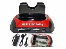 DOCK DOCKING STATION HARD DISK 3,5 2,5 SATA IDE 2 HD HDD BOX CASE USB SD TF MS
