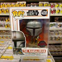 """Funko Pop Star Wars : The Mandalorian Flying w/ Blaster #408 w/0.5mm Case """"Mint"""""""