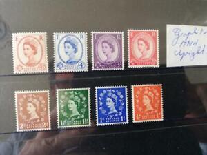 QEII 1958 Graphite set MNH SG 587/594