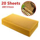 20Pcs 20*41Cm Sheets Natural Beeswax Candlemaking Bee Wax Honeycomb Beekeeping