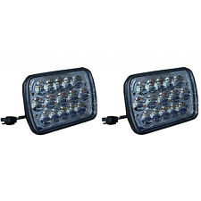 """7X6"""" LED HID  Light Bulbs Crystal Clear Sealed Beam Headlamp Headlight Pair"""