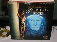 PROSPERO'S BOOKS Laserdisc 2LD John Gielgud