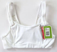 NWT Moving Comfort Fiona White Sports Bra Brown Size 30B NEW