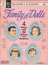 Vintge 1961 Family Dolls Paper Dolls ~Pretty Laser Reproduction~Orig. Size Uncut