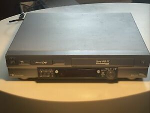 JVC SR-VS30 Dual Format S-VHS and Pro DV Recorder READ! Tested