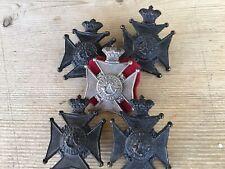 Kings Royal Rifle Corps.Boer War Victorian Crown Original  Busby Badges V.G.C.