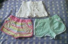 Girls shorts and skirt shorts bundle 100% cotton age 2 to 3