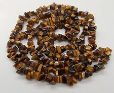 """TIGER'S EYE CHIP NECKLACE 35"""" CONTINUOUS LENGTH NO CATCH, 73 GRAMS"""