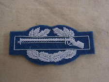US ARMY WW2 C.I.B. combat infantry badge silver bouillon made on blue