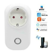 Smart EU WIFI Power Plug Tuya APP Socket Timer Function For Google Home Alexa